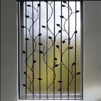 Image result for wrought iron outside window grills design