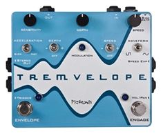 Pigtronix Tremvelope Envelope Modulated Tremolo Pedal - This tremolo pedal from Pigtronix is designed to react to the motion of your playing, giving you more control over your sound. Guitar Effects Pedals, Guitar Pedals, Date, Digital Piano Keyboard, Used Guitars, Circuit Design, Online Music Stores, You Sound, Guitars