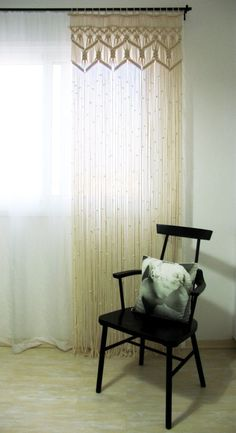 Macrame large curtain living room bedroom custom lace curtain macrame wall hanging bohemian wedding Backdrop beach house room divider 2019 Bohemian … – Renovation – definition of renovation by The Free Dictionary Large Curtains, Bohemian Curtains, Diy Curtains, Custom Curtains, Bedroom Curtains, Homemade Curtains, Double Curtains, Vintage Curtains, Window Valances