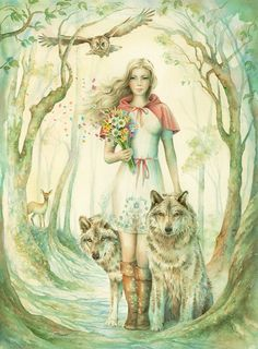 Red Riding Hood Limited Edition Print 2/40 By by ScotHowdenArt