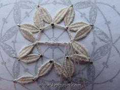 Плетение снежинки с насновкамиПлетение снежинки с насновками