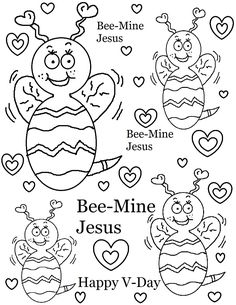 Bee Mine Jesus Coloring Page
