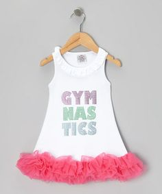 i love this for the little ones! White & Pink 'Gymnastics' Tutu Dress - Infant & Toddler #gymnastics #zulily