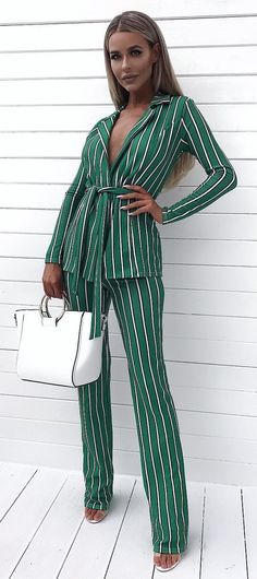 Refined Outfit Ideas To Wear This Summer White Denim Shorts, Denim Blouse, Striped Blazer, Ripped Denim, Black Leather Pants, White Leather, White Tulle Dress, White Cold Shoulder Top, Style