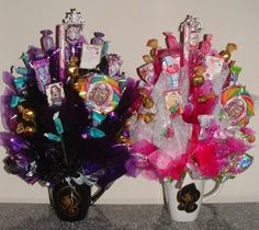 EVER AFTER HIGH Candy Bouquet Centerpiece w/ Edible Party Favors for Friends! Choose: Royals or Rebels;or Apple, Briar, Maddie, or Raven! on Etsy, $29.95