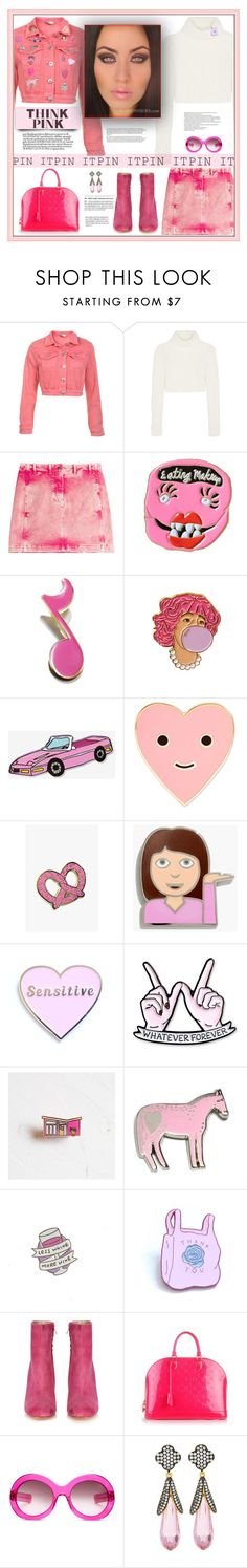 """""""Pink - The IT Pin!"""" by fassionista ❤ liked on Polyvore featuring Miss Selfridge, Roberto Cavalli, Love Bravery, Big Bud Press, ban.do, Madewell, Finest Imaginary, Bonbi Forest, Maryam Nassir Zadeh and Louis Vuitton"""