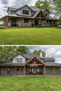 Metal Building Homes, Metal Homes, Building A House, Building Exterior, Morton Building Homes, Dream Home Design, My Dream Home, House Design, Barn House Plans