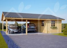 Carport Double 6x7.5 44mm wood free delivery