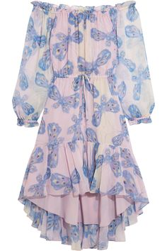 DIANE VON FURSTENBERG Camila printed silk-chiffon dress. #dianevonfurstenberg #cloth #dress