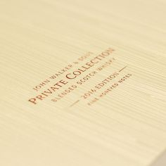 Johnnie Walker and Son's Private Collection 2016 on Packaging of the World - Creative Package Design Gallery Luxury Packaging, Custom Packaging, John Walker, Luxury Cosmetics, Packaging Manufacturers, Packaging Solutions, Packaging Design Inspiration, Booklet, Whisky