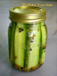 Pickled Zucchini -  love anything pickled!