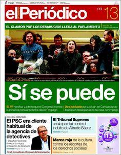 Los Titulares y Portadas de Noticias Destacadas Españolas del 13 de Febrero de 2013 del Diario El Periódico ¿Que le parecio esta Portada de este Diario Español?