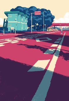 Nameless boy on Behance City Illustration, Digital Illustration, Name Card Design, Composition Art, Night City, Japanese Art, Aesthetic Wallpapers, Land Scape, New Art