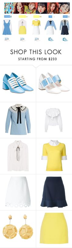 """""""RED VELVET - LITTLE LITTLE💙💛💜💚♡"""" by vvvan99 ❤ liked on Polyvore featuring Miu Miu, Oscar de la Renta, Gucci, Alexis Mabille, Mary Katrantzou, Carven, Opening Ceremony, Prada and Emilio Pucci"""