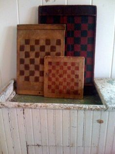 Game boards for kids young and old. We used to play Chinese checkers more often than regular but still...