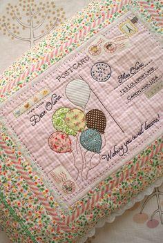 Postcard pillow made by Amy at NANACOMPANY!! So talented! So creative!
