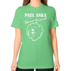 Paul Anka American Apparel Fine Jersey (2001) short sleeve T-shirt is made of 100% fine ring-spun combed cotton. Traditional cut for both men and women. This lightweight fine jersey is exceptionally s