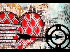 Nika Rouss - Art Journaling Mixed Media: Michelle's Heart - YouTube