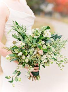 Colorado wedding photographer: Lisa O'Dwyer Colorado wedding planner: Events 306 Colorado Floral Designer: A Florae #coloradowedding #estesparkwedding #coloradofilmweddingphotographer #greenbouquet   Read More on SMP: http://www.stylemepretty.com/colorado-weddings/estes-park/2016/02/16/timeless-wedding-in-estes-park-colorado/