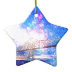 When I Look to the Sky Ceramic Ornament
