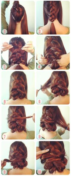 Idée Tendance Coupe & Coiffure Femme 2018 : Description This is pretty, add little jewels or flowers and you are set. Love Hair, Great Hair, Awesome Hair, Gorgeous Hair, Pretty Hairstyles, Easy Hairstyles, Wedding Hairstyles, Wedding Updo, Diy Wedding