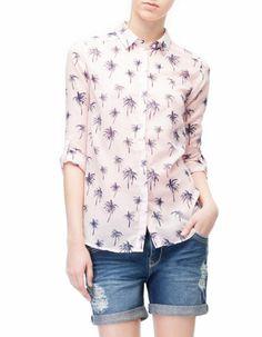 Camisa estampada palmeras - STR