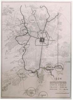 MAPA COMPARATIVO DE LA CIUDAD DE MEXICO DEL AÑO 1960 CON MEXICO DE 1519