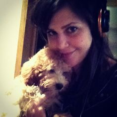 My studio buddy yesterday! Baker is such a lazy girl!