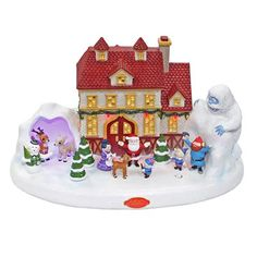 Rudolph the Red-Nosed Reindeer Lighted Musical Rudolph Village Christmas Collectible