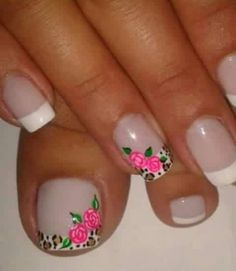 Cute Nail Art, Beautiful Nail Art, Gorgeous Nails, Pretty Nails, Flower Pedicure Designs, Toe Nail Designs, Pedicure Nail Art, Manicure, Asia Nails