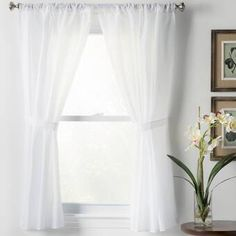Wayfair Basics Rod Pocket Curtain Panels by Wayfair Basics Rod Pocket Curtains, Bathroom Curtains, Bathroom Window Curtains, Colorful Curtains, Panel Curtains, Drapes Curtains, Living Room Windows, Curtains, Room Darkening