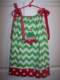 Chevron Pillowcase Christmas Dress