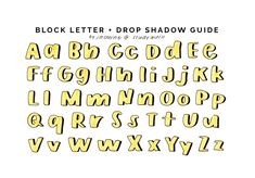 drop shadow guide for block letters! video tutorial