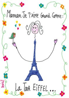 journée internationale de la femme...Marie-Pierre Denizot Tour Eiffel, Mother's Day Activities, French Education, French Class, How To Speak French, Spring Art, Teaching French, France, Mother And Father