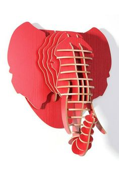 3D Red Elephant Head by Blue Ocean Manufacturing Group on @HauteLook