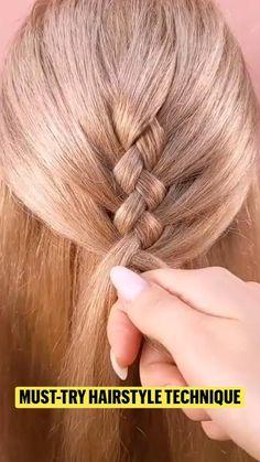 Braided Hairstyles Tutorials, Easy Hairstyles For Long Hair, Little Girl Hairstyles, Cool Hairstyles, Hair Videos, Gorgeous Hair, Hair Hacks, Bridal Hair, Curly Hair Styles