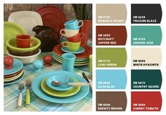 Chip It! by Sherwin-Williams – Fiestaware colors