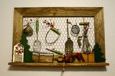19 New Ideas Kitchen Utensils Vintage Display Primitive Kitchen, Rustic Kitchen, Vintage Kitchen, Kitchen Ideas, Country Kitchen, Vintage Display, Vintage Art, Vintage Style, Rustic Decor
