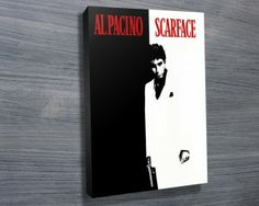 Scarface from $26.00. This is a canvas art print depicting Al Pacino from the iconic gangster movie Scarface. As with all art on this site, we offer these prints as stretched canvas prints, framed print, rolled or paper print or wall stickers / decals. http://www.canvasprintsaustralia.net.au/  #PhotosoncanvasAustralia #Stretchedcanvas #Gicleeprint