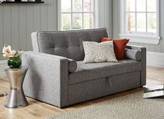 The Haze 2 seater sofa bed combines practicality with versatility for this charming sofa bed solution. To use, simply pull out the drawer underneath the seats and lift the handle to pop out the sofa bed mechanism to create an occasional sleeper. Foam Sofa, Living Dining Room, Sofa, Sofa Bed, Seater Sofa, Living Room Sofa, Comfortable Sofa, Sofa Colors, Fabric Sofa Bed