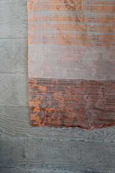 Woven textiles / Patinated / Shortlisted for a textile commission for National Theatre, London: copper & newspaper backing / Woven Wires / Electrical waste experiment
