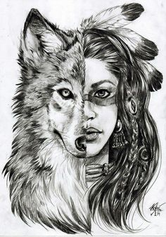 Tatouage fille indienne loup dessin fille comment dessiner une fille galerie d images