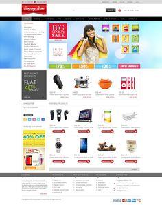 E-commerce bootstrap mockup