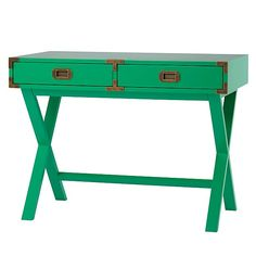 Shop Campaign Desk (Green). If you want a desk with a stylish design and an adventurous spirit, our Campaign Desk is the perfect candidate.