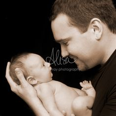 Baby portraits with mother and father