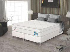Cama Box Queen Size (Box + Colchão) Sealy Mola - 51cm de Altura Blanc com as melhores condições você encontra no Magazine Jsantos. Confira!