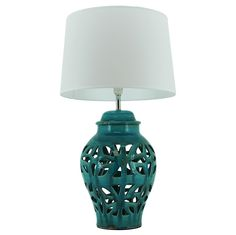 Turquoise Rio Lamp & Shade - Everything Illuminated - Temple & Webster presents