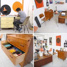 The Home Office of a Passionate MidCentury Collector — Lifework