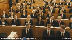 Christian comes to the defense of Rose and Lissa in class... Get more Vampire Academy GIFS at va-movie.com