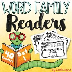 Word Family Readers each focus on a word family so your students can study the chunk IN CONTEXT! You can use these in guided reading groups or to send home with students. Students can interact with the text with highlighters, daubers, Wikki Stix, highlighting tape, finger pointers, etc. Guided Reading Groups, Kindergarten Learning, Highlighters, Word Families, Pointers, Texts, Tape, Finger, Students